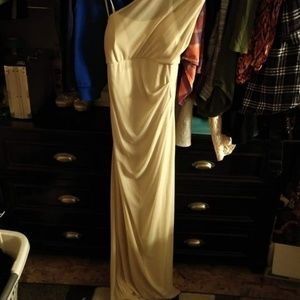 Size 8 champagne color dress from davids bridal